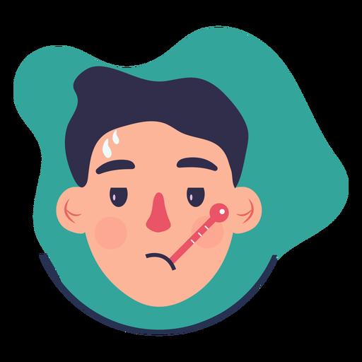 Covid 19 symptom character fever Transparent PNG