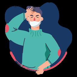 Covid 19 dolor de cabeza de carácter síntoma