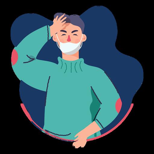 Covid 19 symptom character headache Transparent PNG