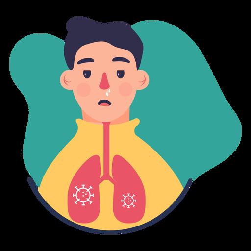 Covid 19 Symptom Charakter Lungen Transparent PNG