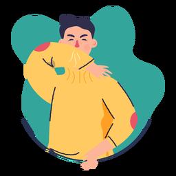 Covid 19 symptom cough elbow