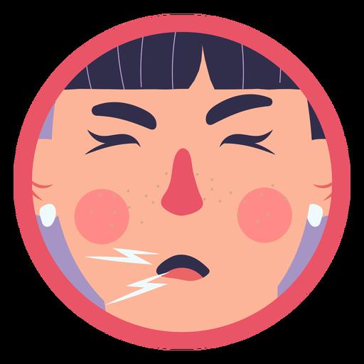 Covid 19 symptom girl cough Transparent PNG