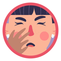 Covid 19 symptom girl coughing