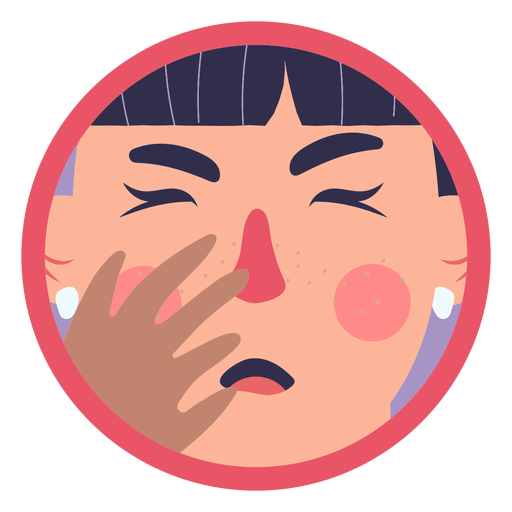 Covid 19 symptom girl coughing Transparent PNG
