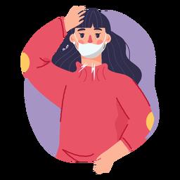 Covid 19 síntoma dolor de cabeza de niña