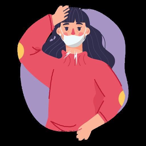 Covid 19 symptom girl headache Transparent PNG