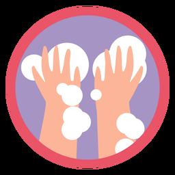 Covid 19 icono de lavarse las manos