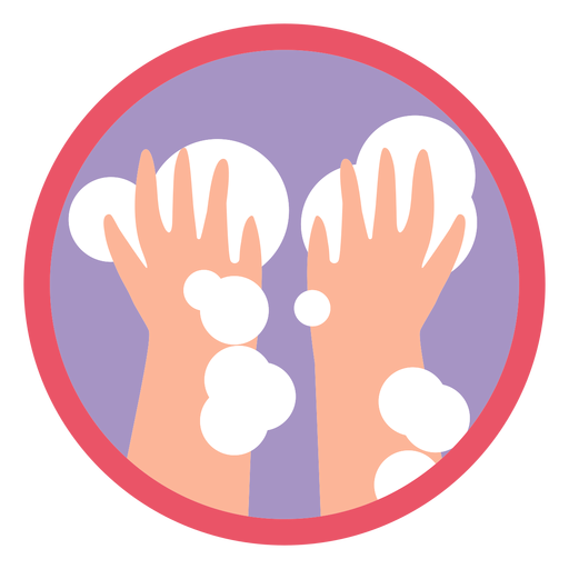 Covid 19 washing hands icon Transparent PNG