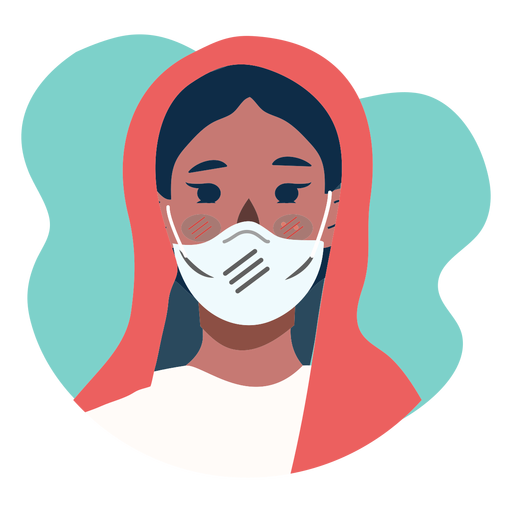 Covid 19 woman character icon