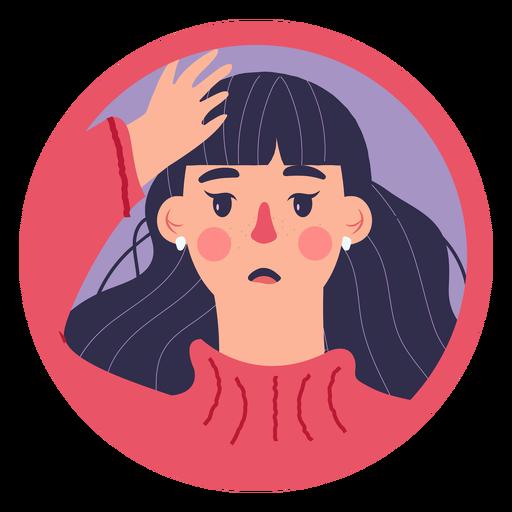 Covid 19 mujer síntoma dolor de cabeza Transparent PNG