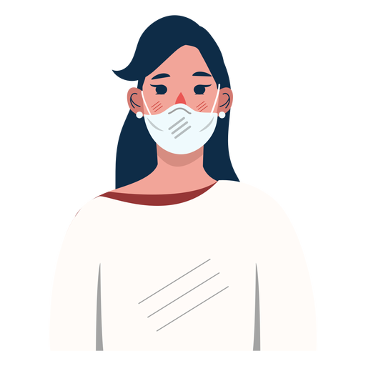 Mujer personaje covid 19 Transparent PNG