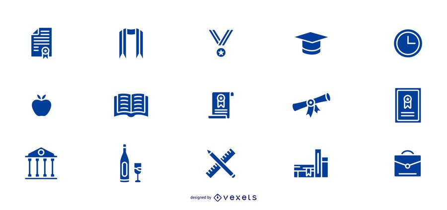 Graduation icons collection