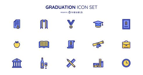 Graduation icon collection