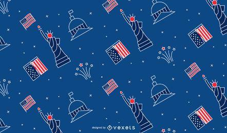 Patrón de trazo del día de la independencia