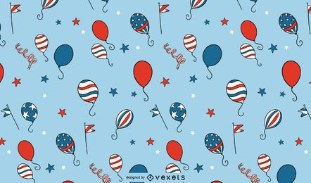 Independence day balloons pattern