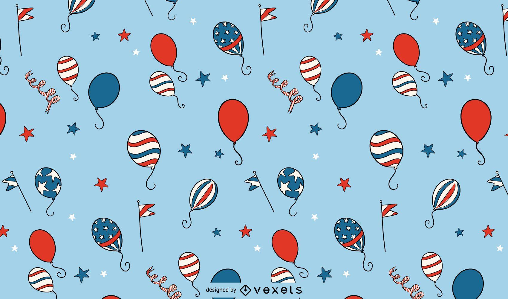 Unabhängigkeitstagballonmuster