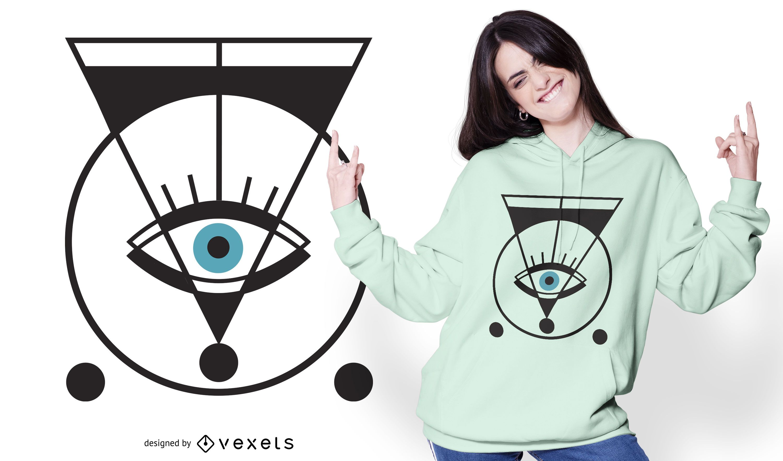 Geometric eye t-shirt design