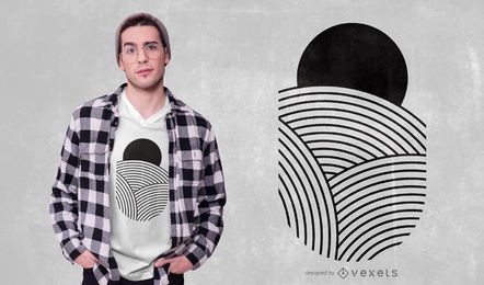 Design de t-shirt de linhas geométricas mínimas