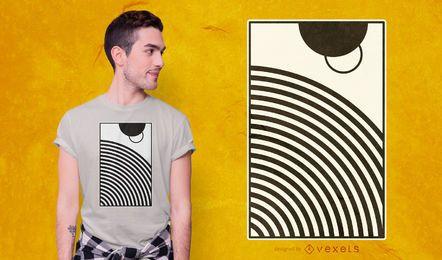 Design abstrato de camisetas com círculos