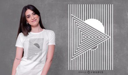 Design geométrico mínimo de camiseta