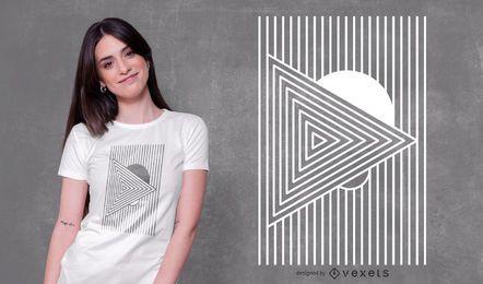 Diseño de camiseta geométrica mínima