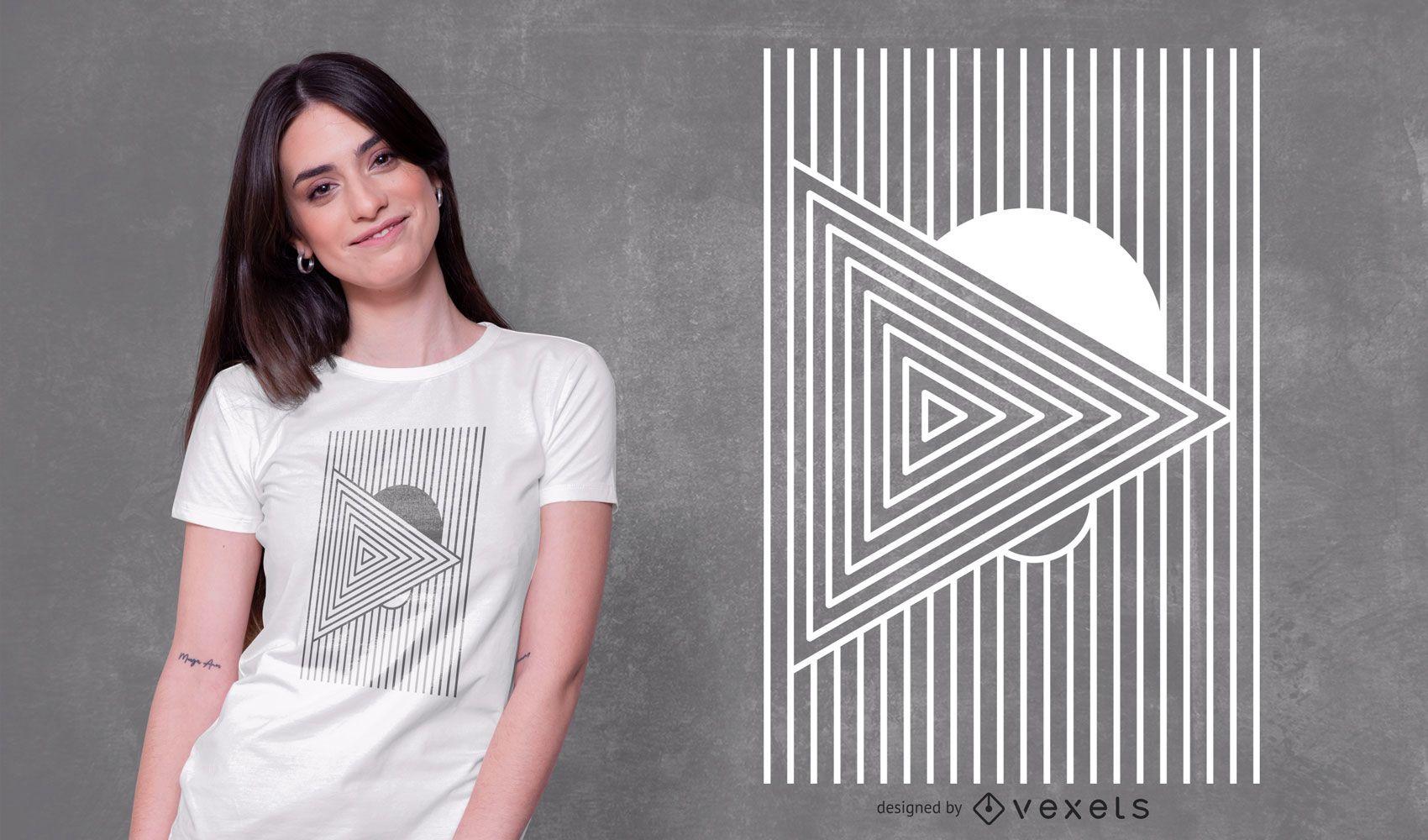 Minimales geometrisches T-Shirt Design