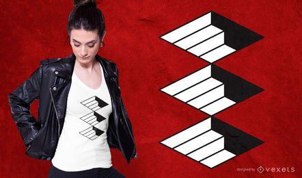 Design abstrato de camiseta de escada