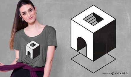 Diseño de camiseta abstracto geométrico mínimo