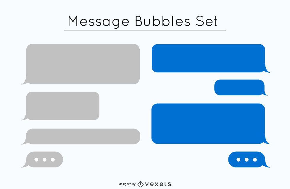 Conjunto de design de bolha de mensagem