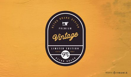 Vintage Label Logo Design