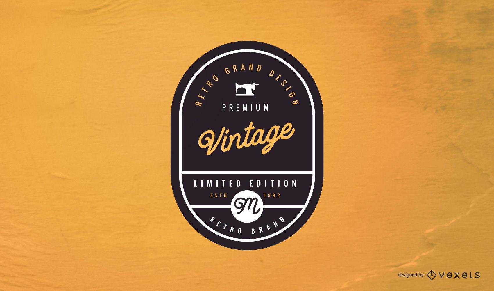 Diseño de logotipo de etiqueta vintage
