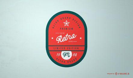 Design de logotipo retrô rótulo vintage