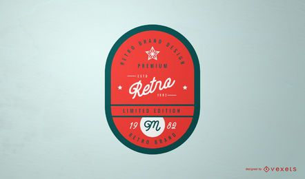 Retro Vintage Label Logo Design