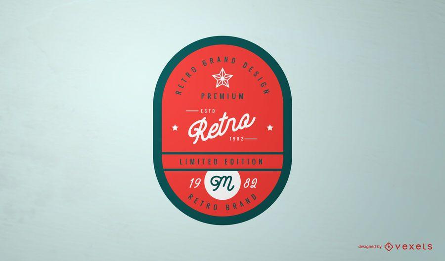 Retro Vintage Label Logo Design