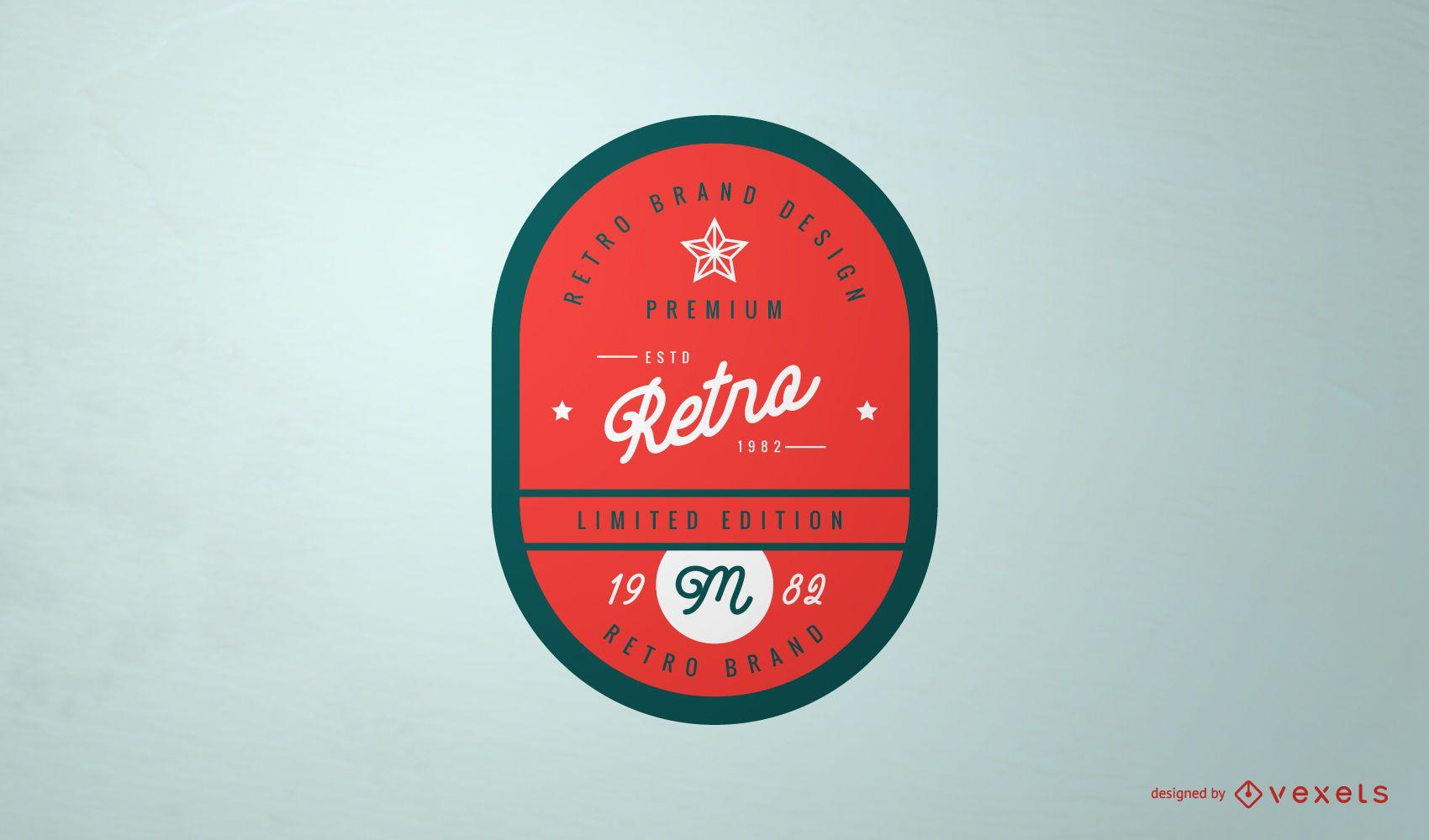 Design de logotipo de rótulo vintage retrô