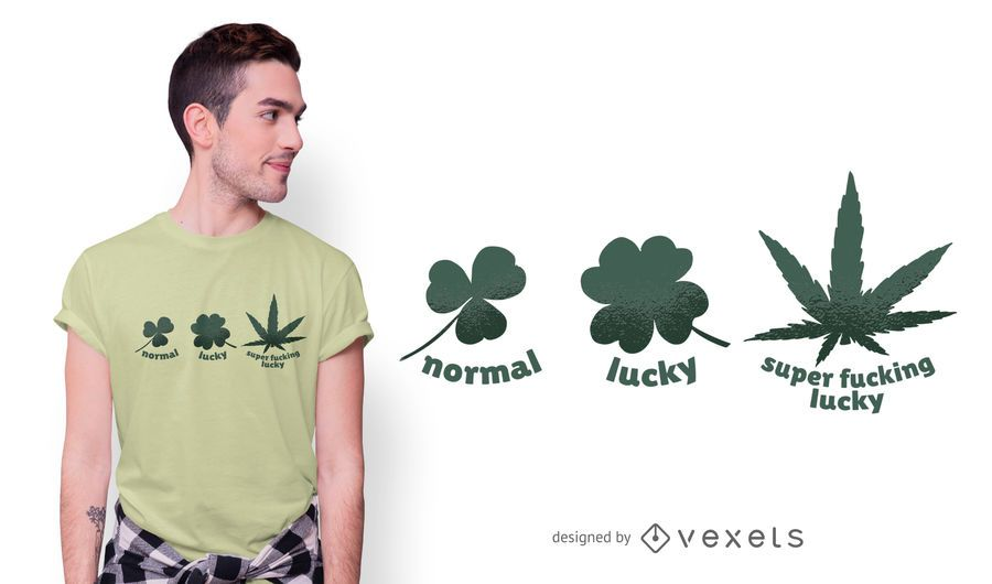 Hanfblatt lustiges T-Shirt Design