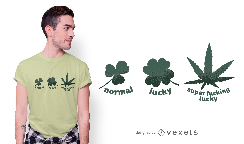 Hemp Leaf Funny T-shirt Design