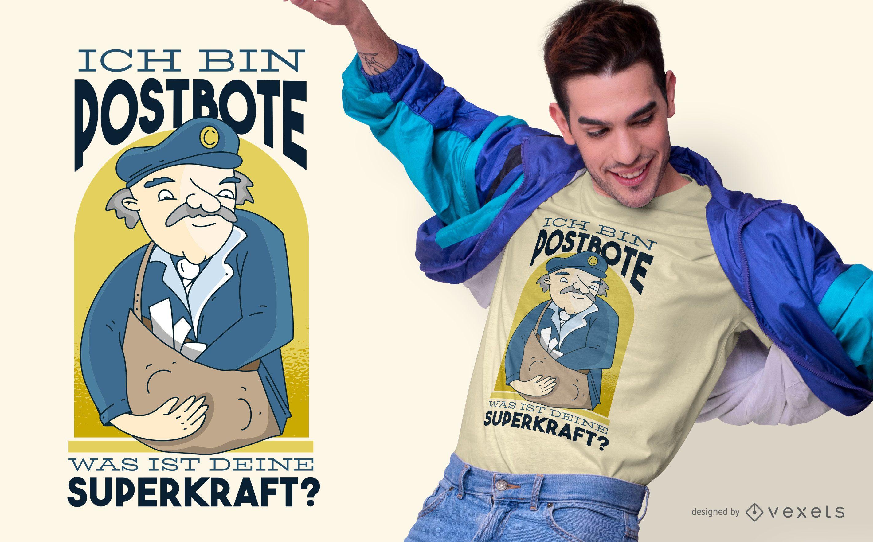 Postbote Deutsch Zitat T-Shirt Design