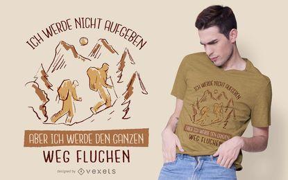 Diseño de camiseta de cita alemana de senderismo