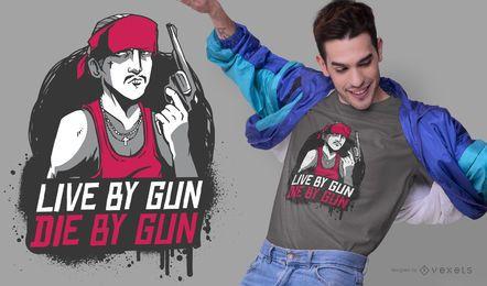 Diseño de camiseta de cita de gángster
