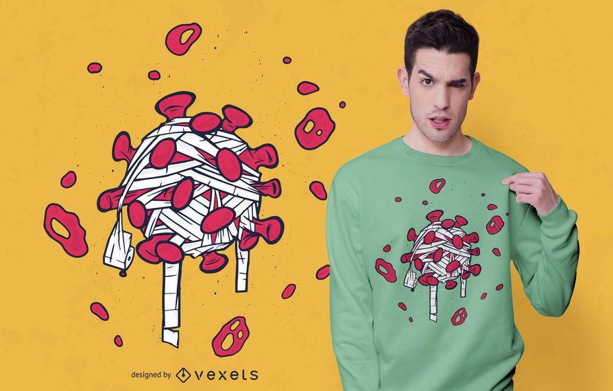Diseño de camiseta de papel higiénico Coronavirus