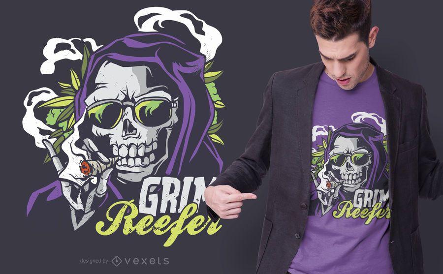 Grim Reefer T-shirt Design