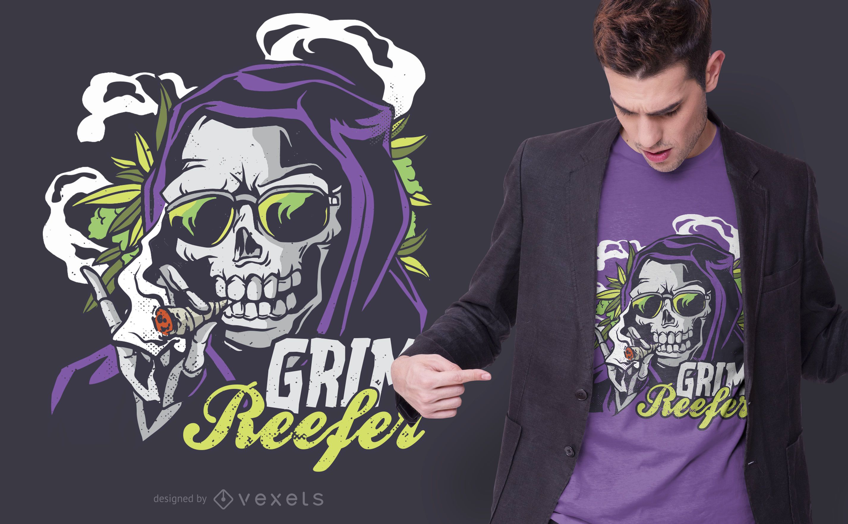 Diseño de camiseta Grim Reefer