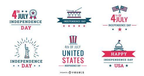 Pacote de emblemas do 4 de julho