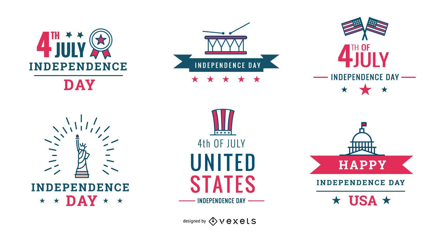 Paquete de insignias del 4 de julio