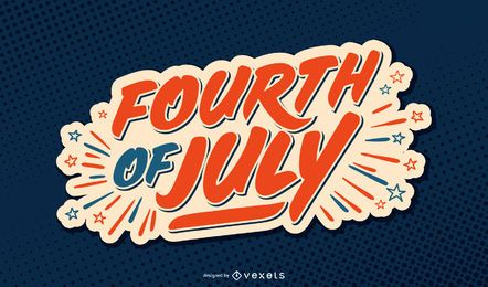 Fourth of july usa lettering