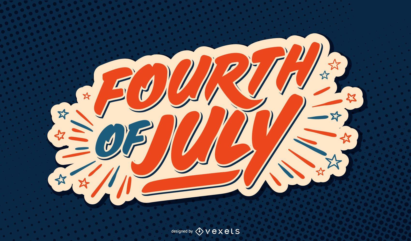 Letras de estados unidos del cuatro de julio