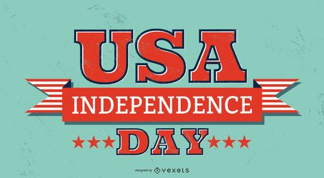 usa independence day lettering