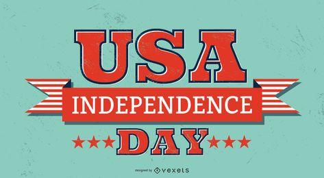 USA Unabhängigkeitstag Schriftzug
