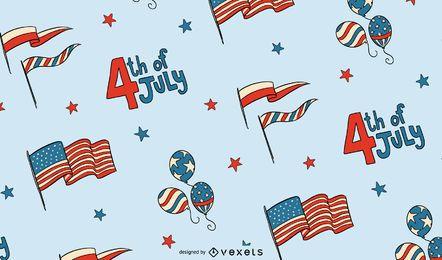 4 de julho desenho padrão